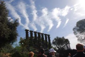 Flame-like clouds over the menorah near the Knesset